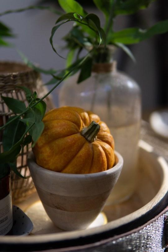 Creamy Pumpkin Pasta With Rosemary & Walnuts