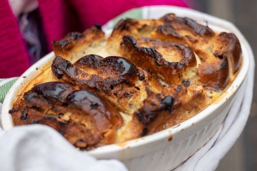 Easter Bun and Butter Pudding