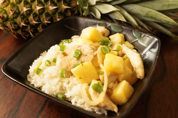 Stir Fried Chicken and Pineapple