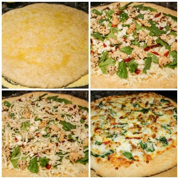 herbed chicken mediterranean pizza