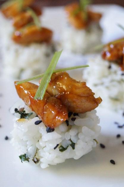 Garlic Chicken with Bok Choy Rice Cakes