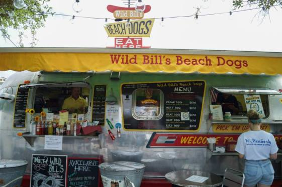 Wild Bill's Beach Dogs Airstream in Seaside, Florida.