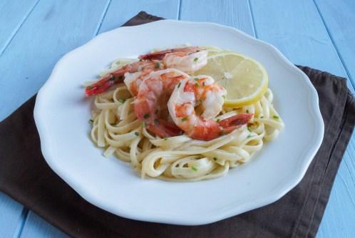 lemon garlic linguine with mascarpone and shrimp (1 of 3)