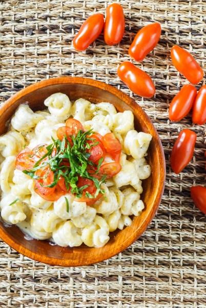 Caprese Macaroni and Cheese (1 of 3)