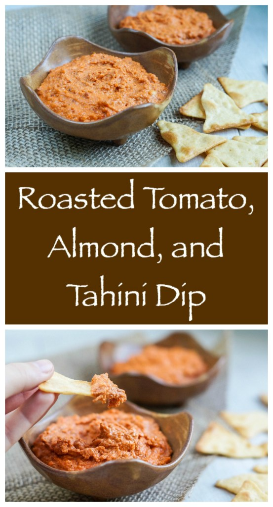 Roasted Tomato, Almond, and Tahini Dip