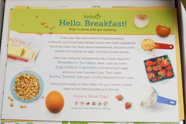 Close up of Hello, Breakfast! introduction from Kidstir.