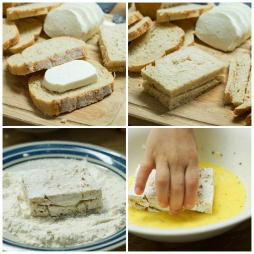 Mozzarella in Carrozza- Neapolitan Fried Mozzarella Sandwiches