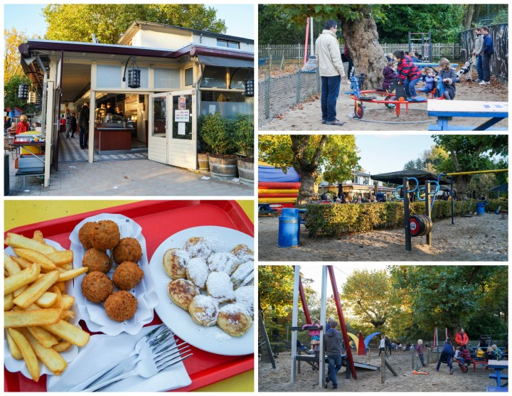 Bitterballen, fries, and poffertjes, playground area in Groot Melkhuis.