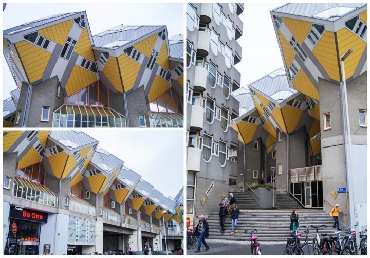 Kubuswoningen0 cube yellow houses in Rotterdam