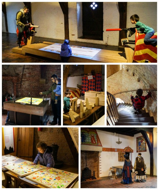 Jousting, puzzles, and blocks inside Muiderslot.