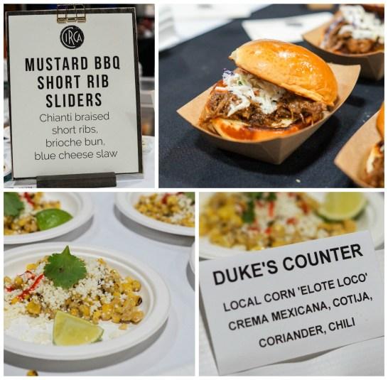 Mustard BBQ Short Rib Sliders and Corn Elote Loco at Circa and Duke's Counter.