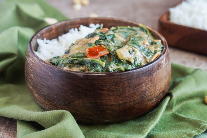 Gambian Spinach with Peanut Sauce