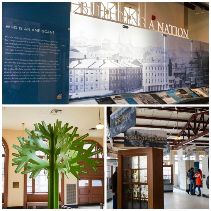 Building a Nation Exhibit at Ellis Island.