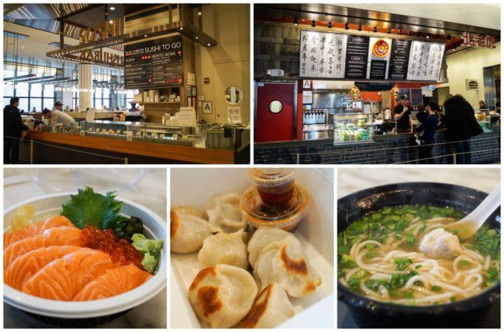 Sushi, Dumplings, and Noodle Soup at Hudson Eats.