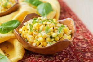 Jolada Palya (Stir-Fried Corn with Basil and Leeks)