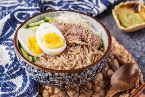 Mul Naeng-Myeon (Korean Buckwheat Noodles in Chilled Broth)