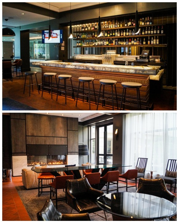Commons Lounge with bar at the Logan Hotel