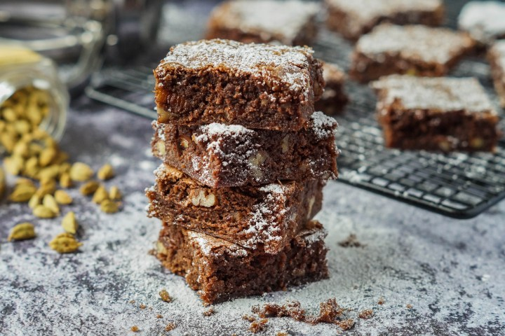 Stacked Cardamom Brownies