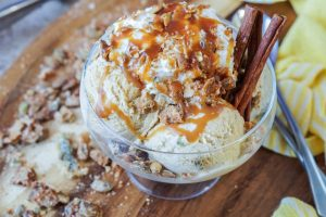 Cinnamon Ice Cream with Candied Pepitas