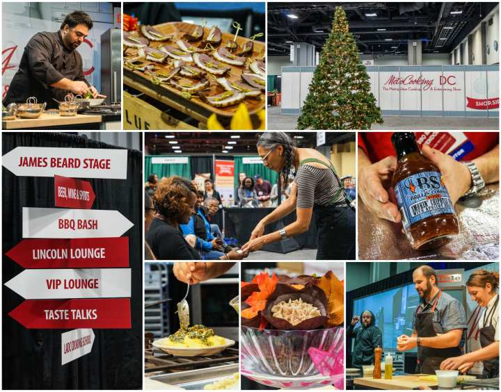 Chefs, vendors, and presenters at MetroCooking DC 2017.