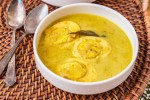 Muttai Kulambu (Sri Lankan Egg Curry) in a white bowl.