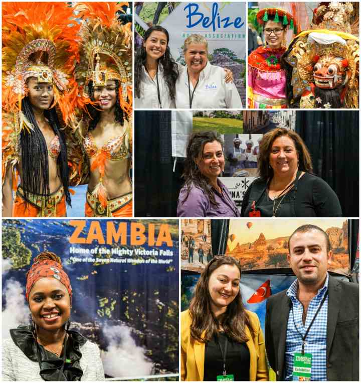 People from Bahamas Tourist Office, Belize Hotel Association, Embassy of Indonesia, Dorina's Kitchen, Zambia, and Turkish Culture & Tourism Office