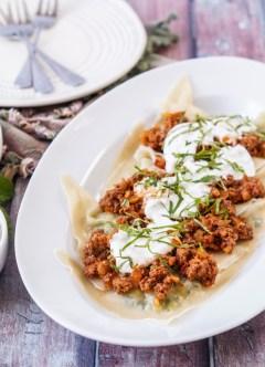Aushak (Afghan Leek and Scallion Dumplings)