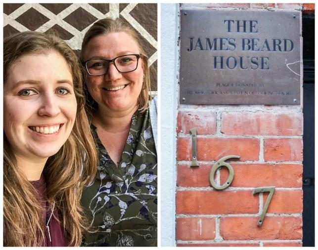 The James Beard House- Numbers 167 on brick wall.