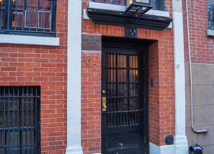 Black door- entrance to James Beard House.