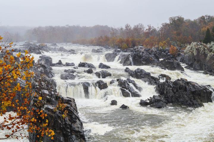 Waterfall at Great Falls Park.