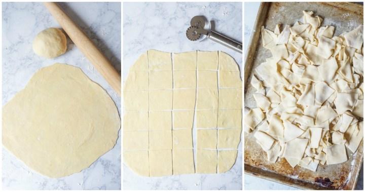 Eski Peynirli Hangel (Turkish Handkerchief Noodles with Blue Cheese and Butter)