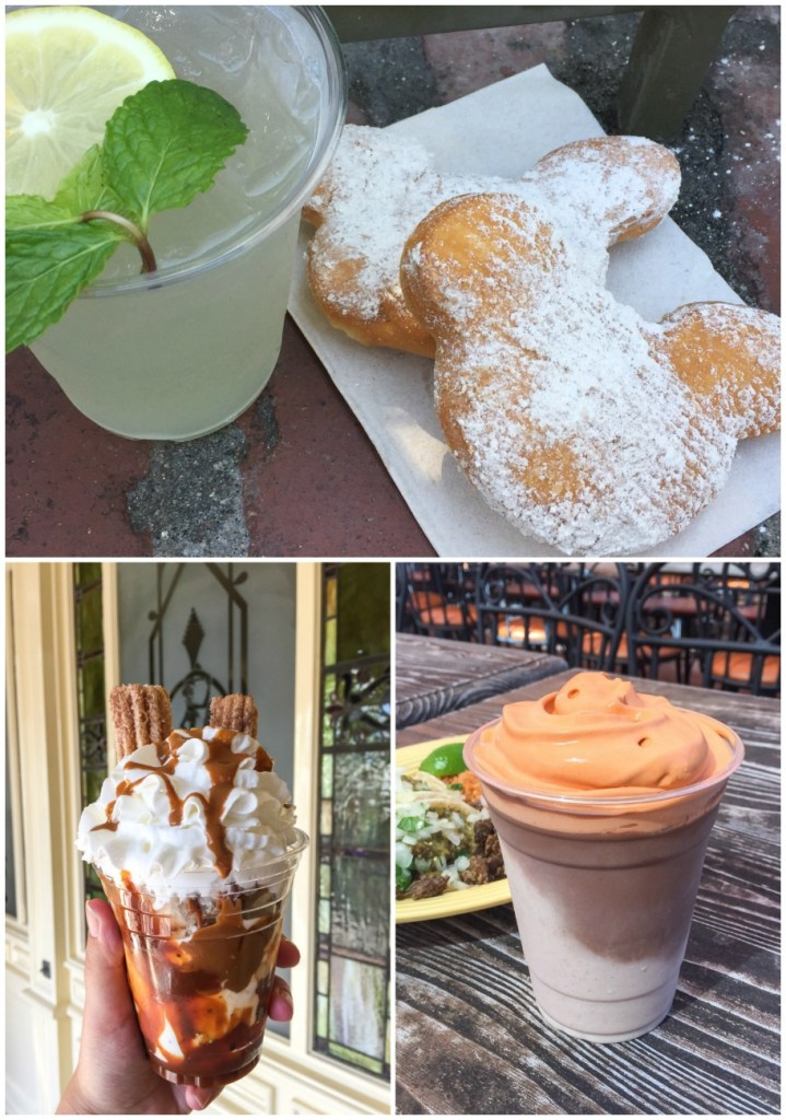 Mojito and Mickey Mouse Beignets, Churro Milkshake, Layered Horchata