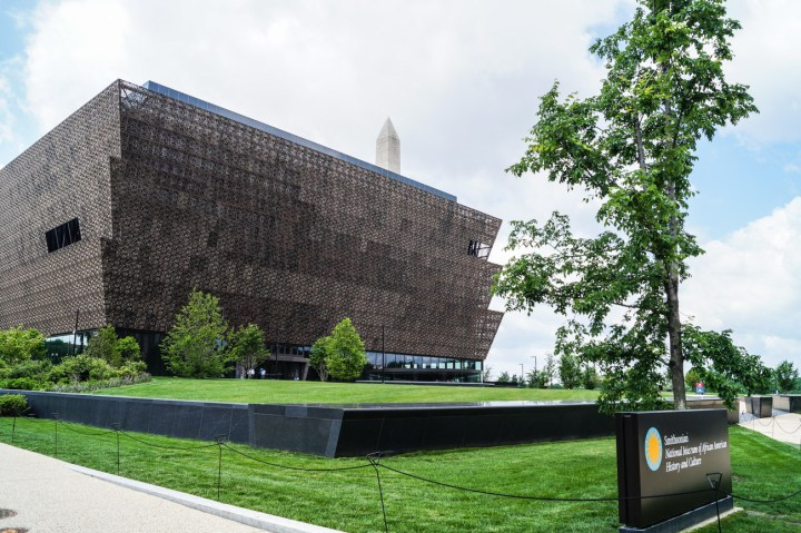 Outside of National Museum of African American History and Culture