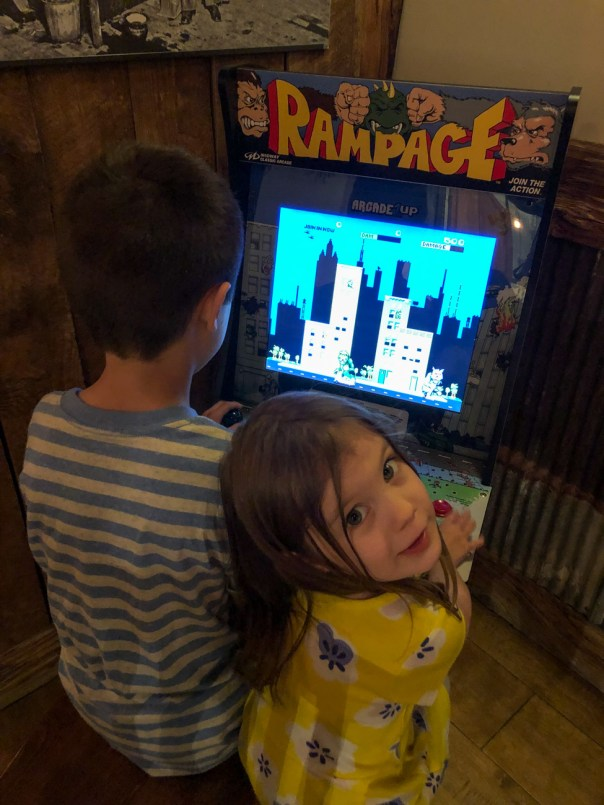 Rampage arcade game at Figueroa Mountain Brewing Co.