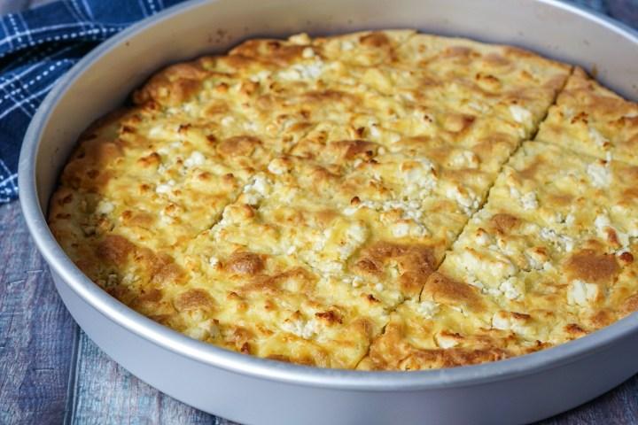 Alevropita (Greek Thin-Batter Feta Pie)