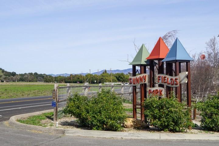 Entrance to Sunny Fields Park