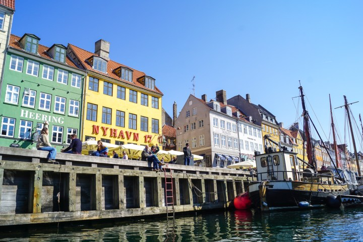 View of Nyhavn from a boat