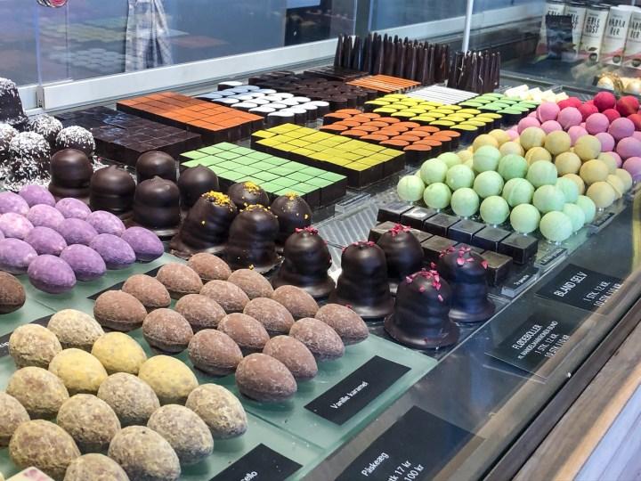 Chocolates and Flødeboller at Ro Chokolade.