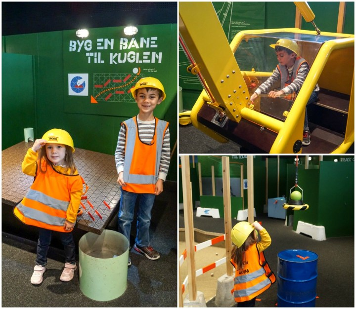 Playing in the construction site at Experimentarium