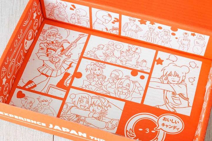 Inside of Japan Crate Box