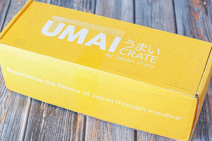Yellow Umai Crate Box- Umai Crate By Japan Crate: Experience the Flavors of Japan through Noodles!