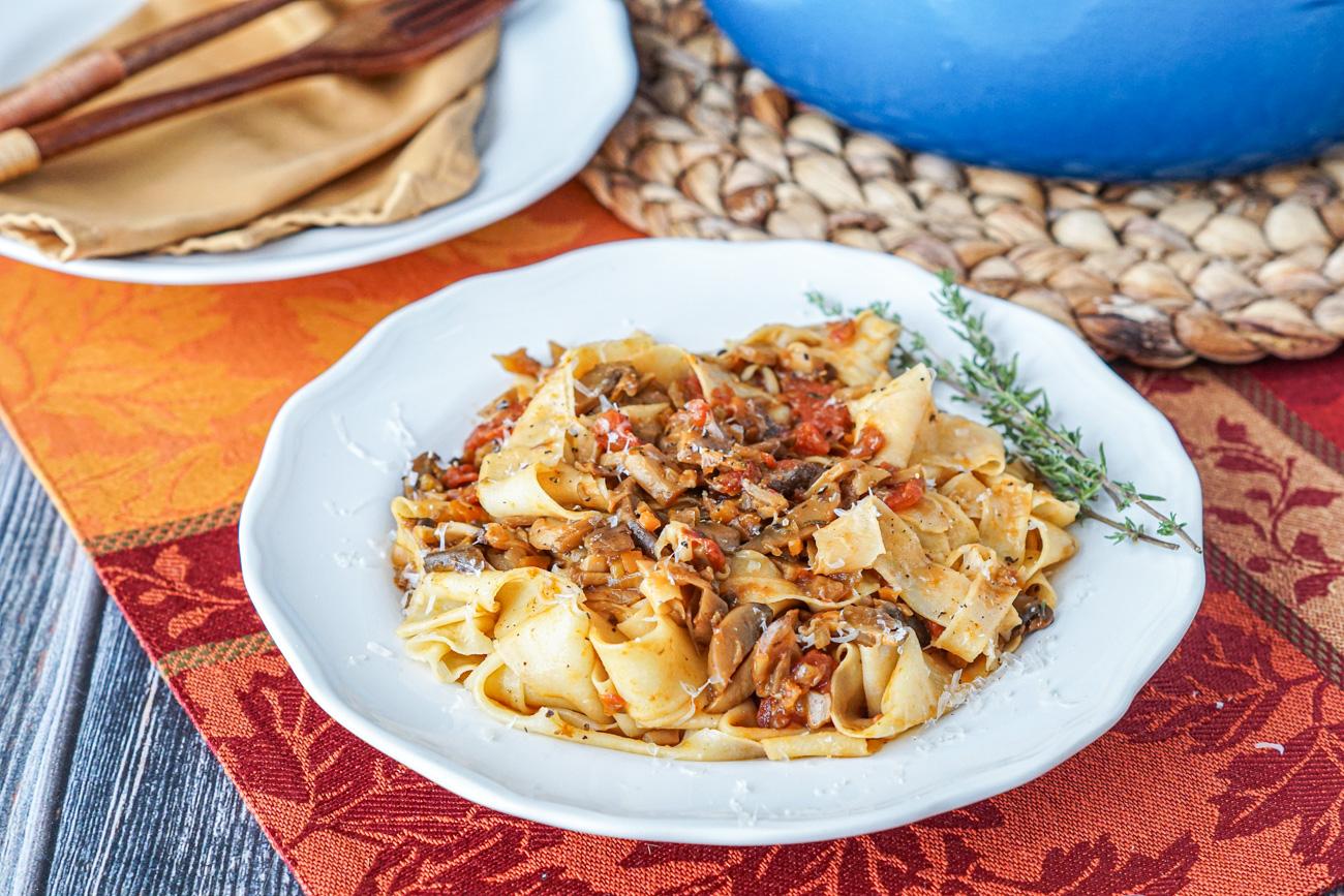 Pappardelle con Ragu di Funghi Misti and Gennaro's Pasta Perfecto Cookbook Review
