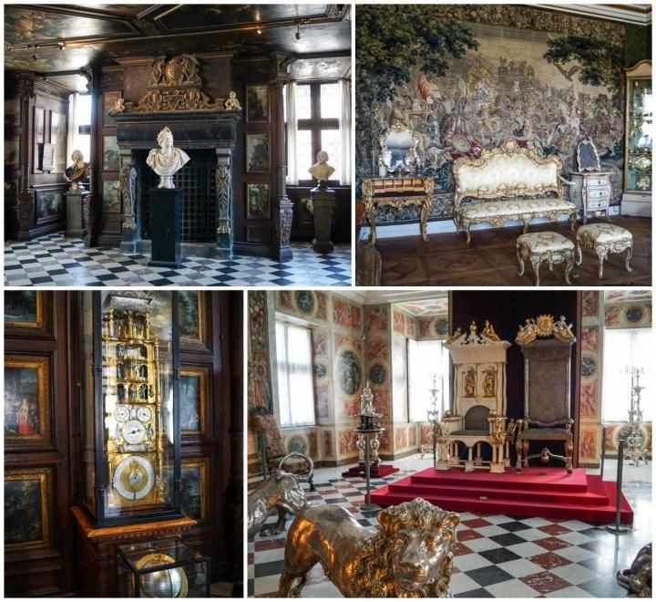 Thrones and decorations inside Rosenborg