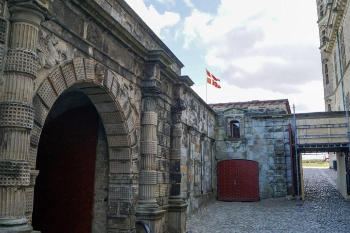 Stone entrance to Kronborg Slot.