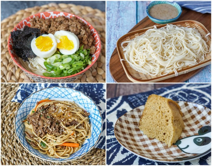 Other recipes from Asian Noodles: Five-Spice Pork Noodles, Somen with Walnut Sauce, Vietnamese Stir-Fried Beef Noodles, and Ma Lai Go (Cantonese Steamed Sponge Cake).