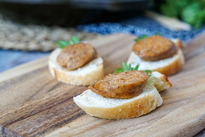 Chorizo a la Sidra on a baguette