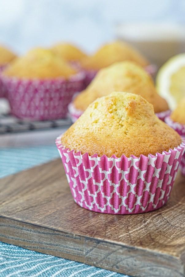 Closeup of Magdalenas (Spanish Muffins)
