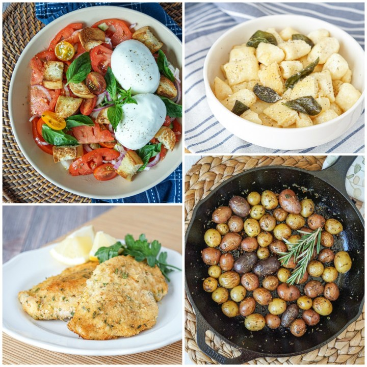 Other dishes from 20-Minute Italian: Fresh Burrata Panzanella in Just 10 Minutes, Easy Pillowy Ricotta Gnocchi, Fast Oven-Baked Chicken Cotolette (Breaded Chicken Cutlets), and Speedy Pan-Roasted New Potatoes.