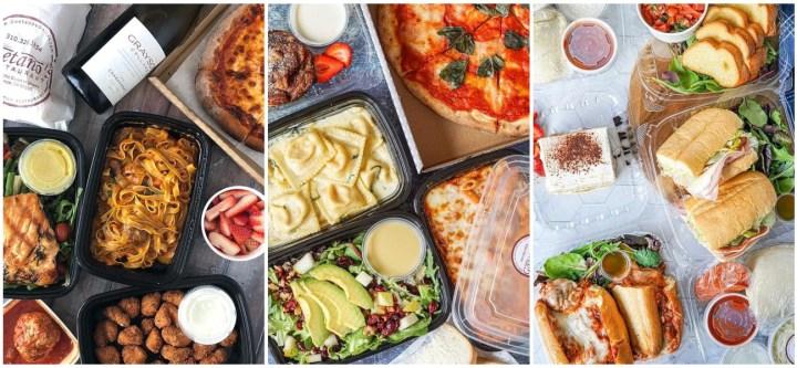 Pasta, salad, pizza, and sandwiches at Gaetano's Restaurant.
