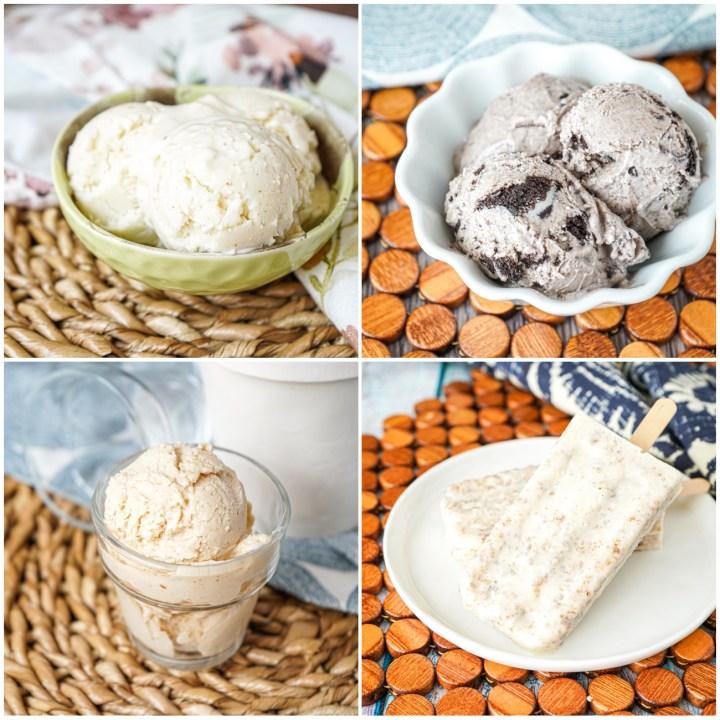 Vanilla Browned Butter, Cookies 'n' Cream, Peanut Butter, and Cinnamon Bun Pops.